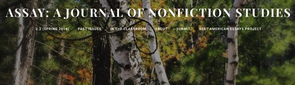 Assay A Journal of Nonfiction Studies Home