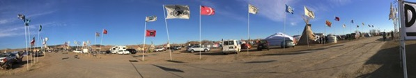 Pano of Oceti Sakowin Camp
